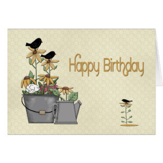 Birthday Birds Greeting Cards