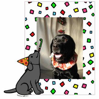 Birthday Black Labrador Cartoon Photo Frame Cutout