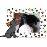 Birthday Black Labrador Cartoon Photo Frame Photo Cut Out
