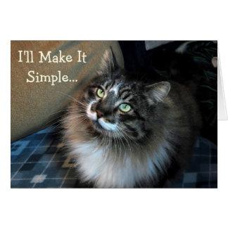 Birthday Blackmail Cat Birthday Card