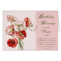 Birthday Blessings Scripture card to a Special Mom