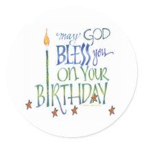 Birthday Blessings Sticker
