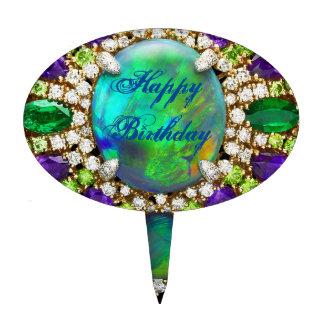 Birthday Bling Costume Jewelry Cake Topper