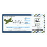 "Birthday Boarding Pass Ticket 4"" X 9.25"" Invitation Card"