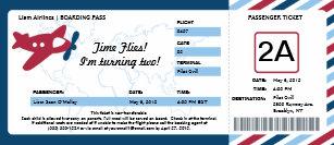 Boarding pass invitations announcements zazzle birthday boarding pass ticket invitation filmwisefo