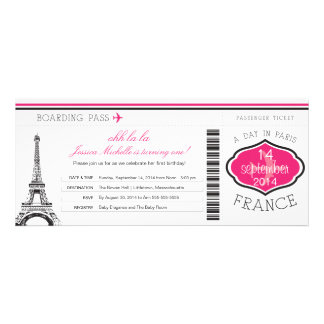 Birthday Boarding Pass to Paris Announcement