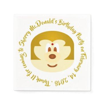 Wedding Themed Birthday - Bob Hair Lady 鮑 鮑 Paper Napkin