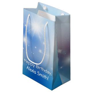 Birthday Bokeh and Stars Small Gift Bag