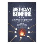 Birthday Bonfire Campout Cookout Party invitation
