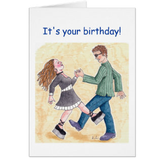 Birthday boogie shoes card