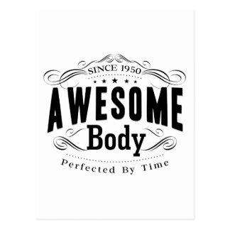 Birthday Born 1950 Awesome Body Postcard