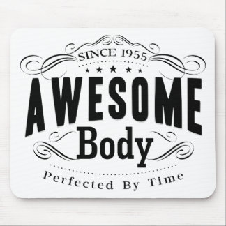 Birthday Born 1955 Awesome Body Mouse Pad