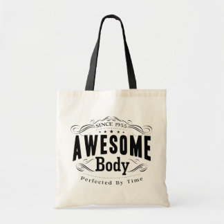 Birthday Born 1955 Awesome Body Tote Bag