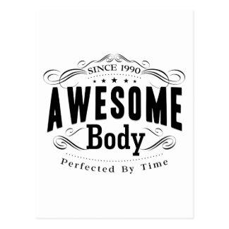 Birthday Born 1990 Awesome Body Postcard