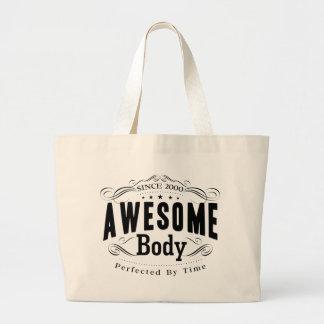 Birthday Born 2000 Awesome Body Jumbo Tote Bag