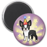 Birthday Boston Terrier 2 Inch Round Magnet