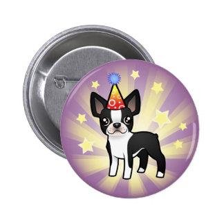 Birthday Boston Terrier Button