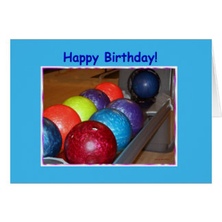 Birthday Bowling Balls Card