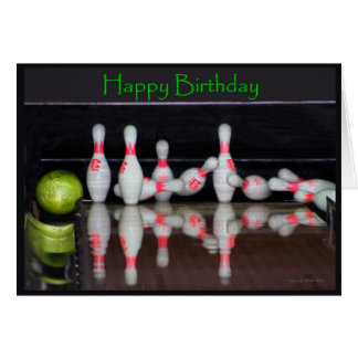 Birthday Bowling Card