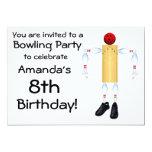 "Birthday Bowling Party Invitation 5"" X 7"" Invitation Card"