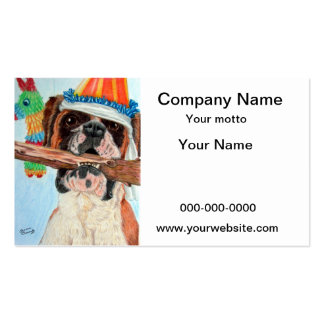 Birthday Boxer Double-Sided Standard Business Cards (Pack Of 100)