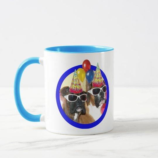 Birthday Boxer mug