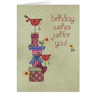 Birthday Boxes Birds Cards
