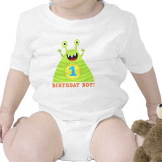 Birthday boy 1 year funny monsters kids t-shirt