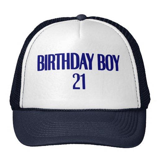 Birthday Boy 21 Trucker Hats