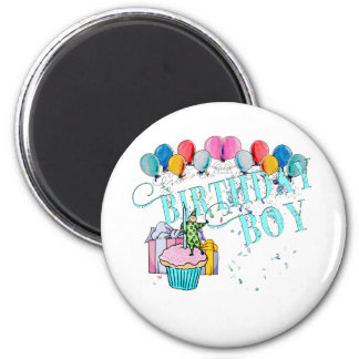 Birthday Boy 2 Inch Round Magnet