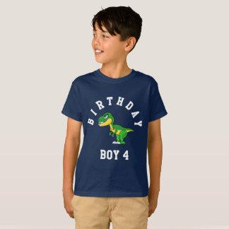 Birthday Boy 4 Years Dinosaur Shirt