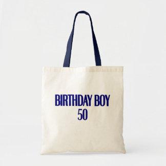 Birthday Boy 50 Canvas Bags