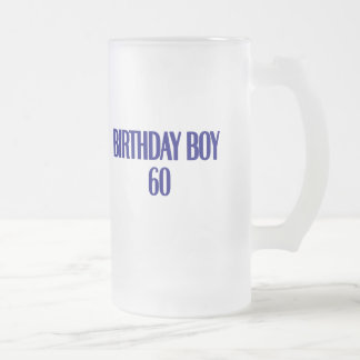 Birthday Boy 60 Frosted Glass Beer Mug