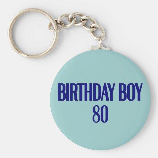 Birthday Boy 80 Key Chain
