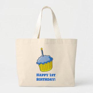 Birthday Boy Art Large Tote Bag