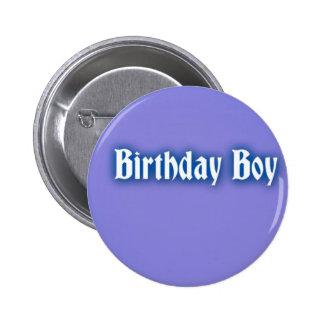 Birthday Boy Badge Buttons