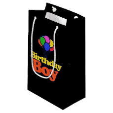 Birthday Boy Balloons Small Gift Bag
