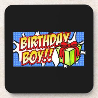Birthday Boy Banner Beverage Coaster