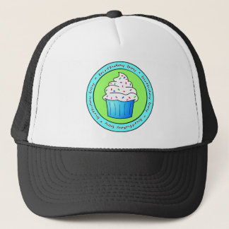 Birthday Boy Blue Cupcake with Sprinkles Trucker Hat