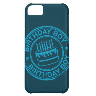 Birthday Boy -blue rubber stamp effect- Cover For iPhone 5C