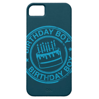Birthday Boy -blue rubber stamp effect- iPhone SE/5/5s Case