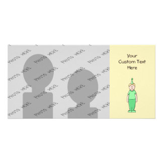 Birthday Boy Cartoon in Green. Card