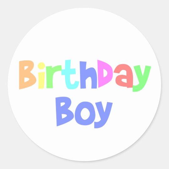 Birthday Boy Classic Round Sticker