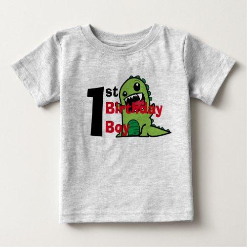 Birthday Boy Crazy Dino Shirt 1st