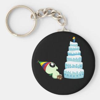 Birthday Boy Cthulhu Basic Round Button Keychain