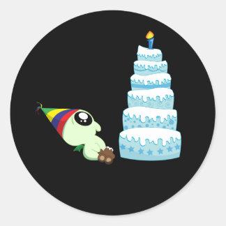 Birthday Boy Cthulhu Classic Round Sticker