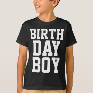 birthday boy custom age at back tshirt