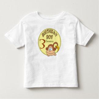 Birthday Boy Cute Monkey Personalized Name Shirt