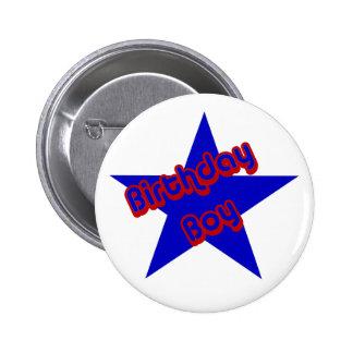 Birthday Boy Design Cute Button