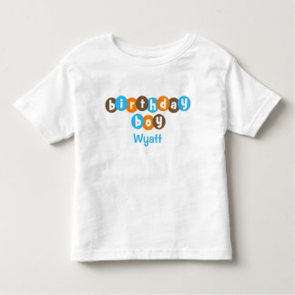 Birthday Boy Dots Personalized Toddler T-shirt